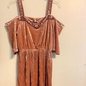 Lucky Brand Crushed Velvet Dress size small